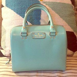 New Kate Spade ♠️ blue bowler satchel 💙